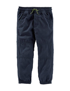 OshKosh B'gosh® Navy Poplin Jogger Pants - Toddler Boys
