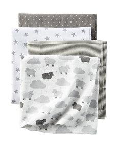 Carters® 4-pk. Little Lambie Receiving Blankets