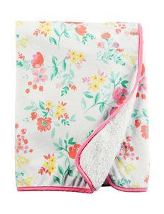 Carter's® Flower Print Plush Blanket