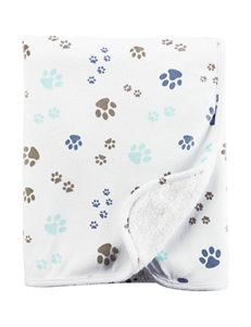 Carter's® Dog Paw Print Plush Blanket