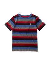 U.S. Polo Assn. Multicolor Striped Print T-shirt - Boys 4-7