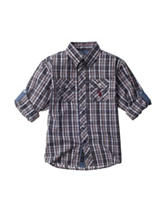 U.S. Polo Assn. Plaid Woven Top - Boys 4-7