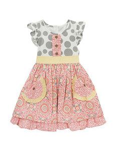 Rare Editions Twin Print Dress - Toddler & Girls 4-6x