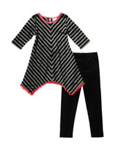 Youngland 2-pc. Pom Pom Striped Top & Leggings Set – Girls 4-6x