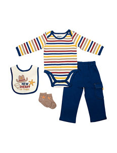 Baby Gear 4-pc. New Sheriff in Town Bodysuit & Pants Set - Baby 0-12 Mos.