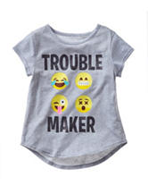 Twirl Emoji Trouble Maker Top –Girls 7-16