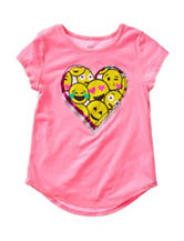 Twirl Pink Emoji Heart Top – Girls 7-16