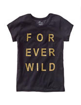 Twirl Black & Gold Forever Wild Top – Girls 7-16