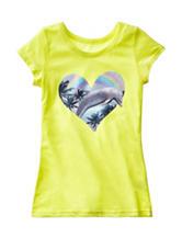 Twirl Dolphin Heart Screen Print Top – Girls 7-16