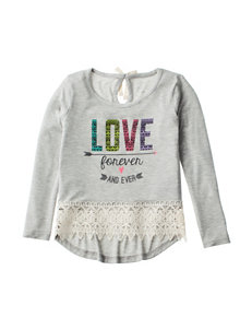 Love, Peace &  Lip Gloss Heather Grey
