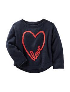 OshKosh B'Gosh Love Heart Print Sweater - Toddler Girls