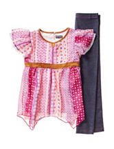 Pogo Club Boho Chiffon Top & Pants Set - Girls 4-6x