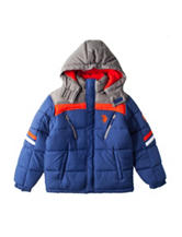 U.S. Polo Assn. Striped Puffer Jacket - Boys 8-20