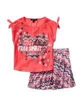 Allison Brittney 2-pc. Wild Heart Skirt Set – Girls 7-14