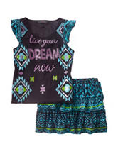 Allison Brittney 2-pc. Live Your Dream Skirt Set – Girls 7-14