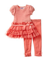 Blueberi Boulevard Coral Top & Leggings Set - Baby 12-24 Mon.