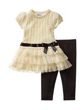 Blueberi Boulevard Ivory Sweater & Leggings Set - Baby 12-24 Mon.