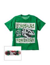 Rude Boyz  Dinosaurs Ate My Homework Top with Skateboard - Boys 8-20