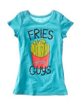 Twirl Teal Fries Before Guys Top – Girls 7-16