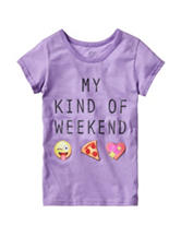 Twirl Purple Weekend Emoji Top – Girls 7-16