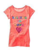 Twirl Orange Believe In Love Top – Girls 7-16