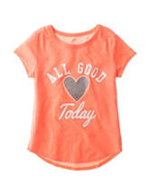 Twirl Orange All Good Today Hi-Lo Top – Girls 7-16