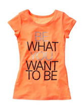Twirl Orange Be What You Want Top – Girls 7-16