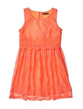 My Michelle Coral Crochet Knit Dress – Girls 7-16