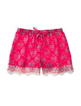 My Michelle Lace Medallion Print Shorts – Girls 7-16