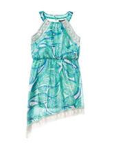 My Michelle Paisley Print Crochet Dress – Girls 7-16