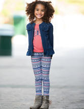 Little Lass 3-pc. Denim Jacket & Leggings Set - Toddlers & Girls 4-6x