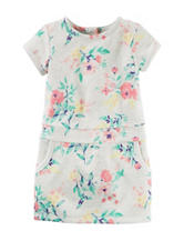 Carter's® Floral Print French Terry Dress - Toddler Girls