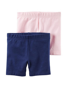 Carter's® 2-pk. Solid Stretch Shorts Set - Girls 4-8