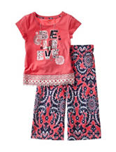 One Step Up 2-pc. Believe Paisley Print Gaucho Pants Set – Girls 7-12