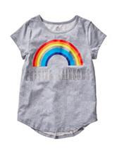 Twirl Grey Chasing Rainbows Hi-Lo Top – Girls 7-16