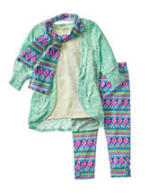 Self Esteem 2-pc. Top & Pants Set with Scarf - Girls 4-6x
