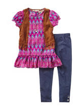 Self Esteem 2-pc.Aztec Print Top & Jeggings Set -  Girls 4-6x