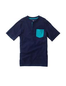 Rustic Blue Henley Pocket T-shirt - Boys 8-20