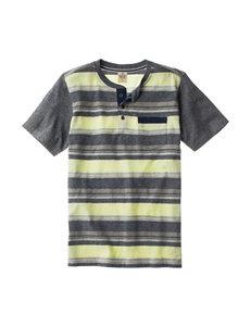 Rustic Blue Striped Henley Shirt - Boys 8-20