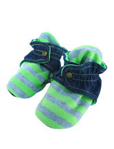 Trimfit Lime & Grey Striped Booties - Baby 0-12 Mos.