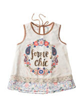 Self Esteem Forever Chic Suede Paisley Print Top – Girls 7-16