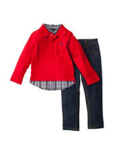 U.S. Polo Assn. 2-pc. Top & Pants Set - Toddler Boys