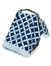 Itzy Ritzy® Cozy Happens™ Infant Car Seat Canopy –Social Circle Blue