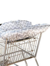 Itzy Ritzy® Ritzy Sitzy™ Shopping Cart & High Chair Cover – Grey Chevron