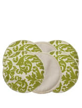 Itzy Ritzy® Glitzy Gals™ 6-pc. Washable Nursing Pads Set – Avocado & Cream Damask