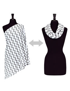 Itzy Ritzy® Nursing Happens™ Infinity Breastfeeding Scarf – Grey Chevron