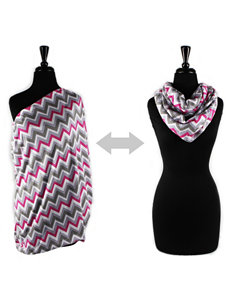 Itzy Ritzy® Nursing Happens™ Infinity Breastfeeding Scarf – Pink Kiss Chevron