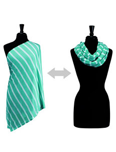 Itzy Ritzy® Nursing Happens™ Infinity Breastfeeding Scarf – Turquoise Seaside Stripe