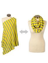 Itzy Ritzy® Nursing Happens™ Infinity Breastfeeding Scarf – Yellow Canary Stripe