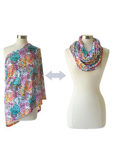 Itzy Ritzy® Nursing Happens™ Infinity Breastfeeding Scarf – Watercolor Bloom